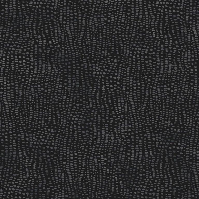 Anemone Designer Wallpaper in Assam 'Multi-Color Grey and Black' For Sale