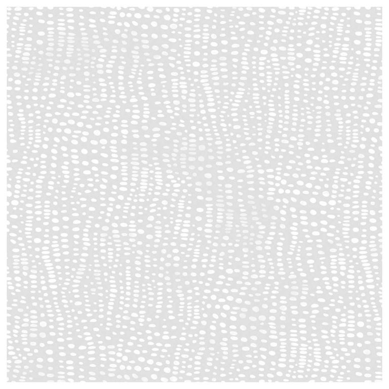 Anemone Designer Wallpaper in Winter 'White and Soft Grey' For Sale
