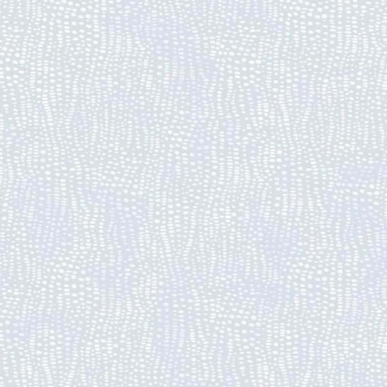 Anemone Designer Wallpaper in Zephyr 'White and Pale Blue' For Sale