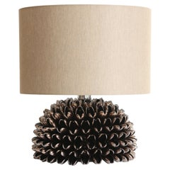 Anemone Table Lamp in Bronze by Riccio Caprese, Made in Italy