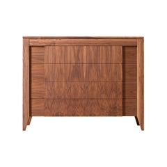 Anerio Chest of Drawers, Made of Canaletto Walnut Wood