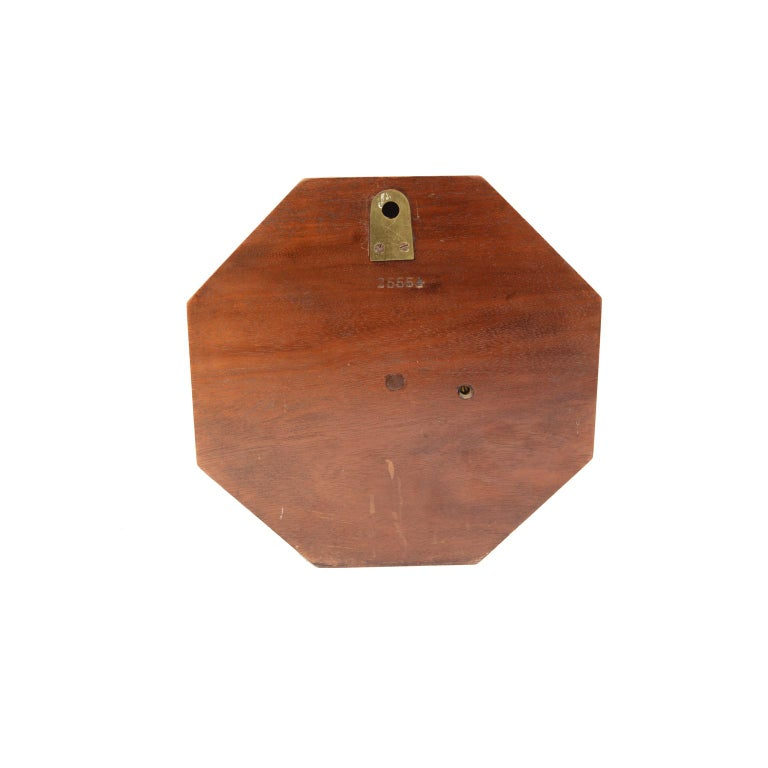 Brass Aneroid Octagonal Barometer Signed Aitchison, London, 1920s For Sale
