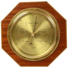Aneroid Octagonal Barometer Signed Aitchison, London, 1920s