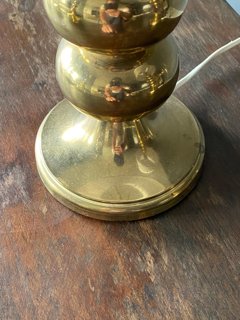 Late 20th Century Aneta, Table Lamps, Polished Brass, Sweden, 1970s