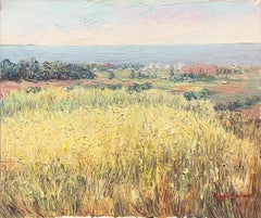 Spanish landscape oil on canvas painting