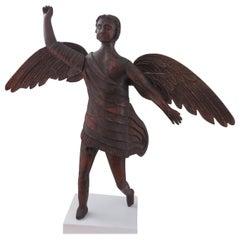 Angel Carved Wood Sculpture