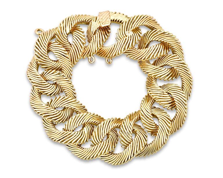 Retro Angel Hair Gold Link Bracelet by Van Cleef & Arpels For Sale