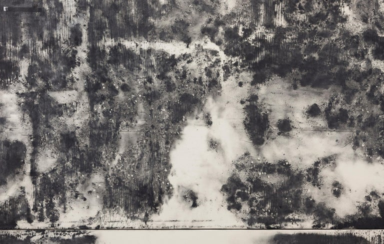 Uqbar - Gray Abstract Painting by Angel Otero