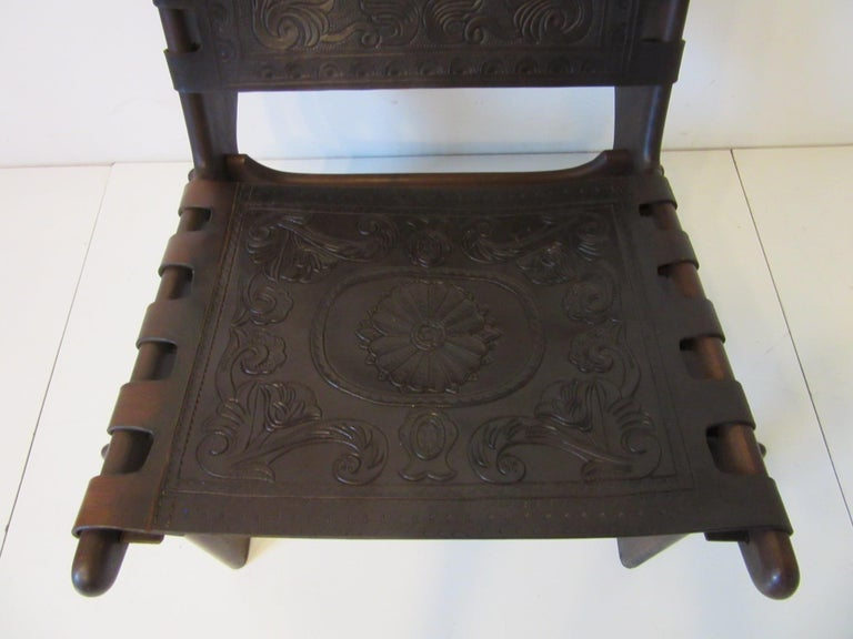 Angel Pazmino Brazilian Rosewood / Leather Lounge Chair For Sale 5