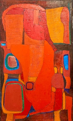 Large Abstract Biomorphic Spanish Bold Modern Oil Painting Angel Ponce de Leon