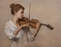 Cadenza ,figurative oil painting, in the Style of Classical Realism.