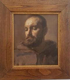 Giovanni Monaco , Portrait Monastic Monk, Classical Realism. Florence  Academy