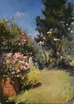 View from Chianti Farmhouse  ,Landscape oil painting, Classical Realism.