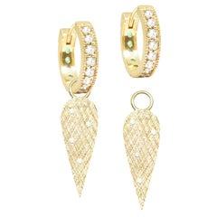 Angel Wings 18 Karat Gold Earrings