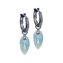 Angel Wings Aquamarine Earrings