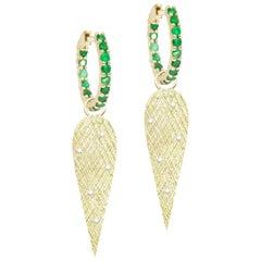 Angel Wings Diamond 18 Karat Gold Earrings