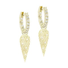 Angel Wings Diamond Convertible 18 Karat Gold Earrings