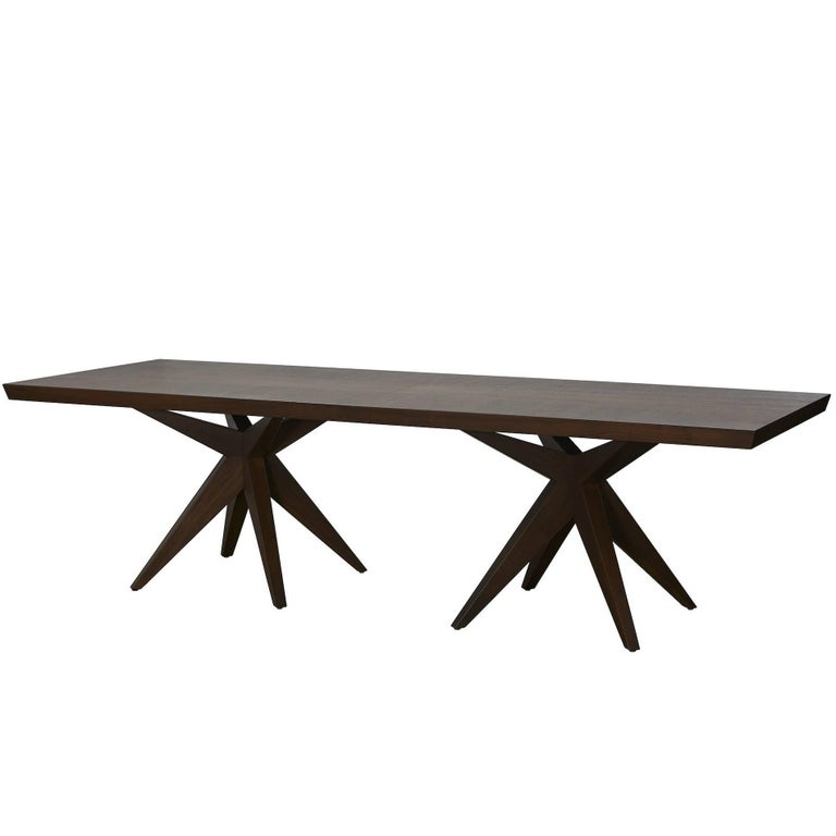 Angela Adams Double Bonfire Dining Table Walnut Seats 12 Handcrafted Modern For