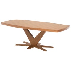 Angela Adams Haven Dining Table, Cherry, Seats Six-Eight, Handcrafted, Modern