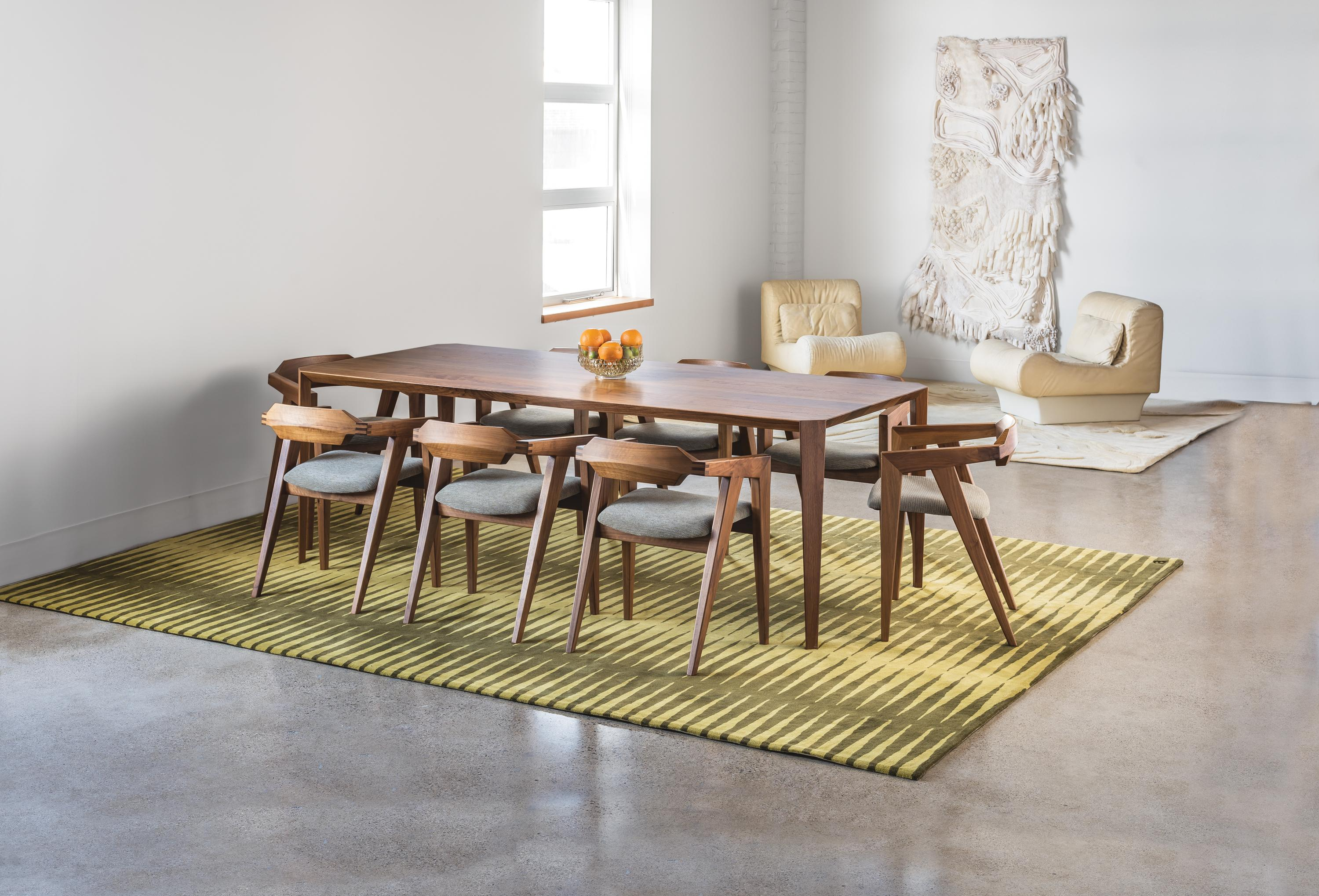 Angela Adams Origami Dining Table In Cherry Seats Six Handcrafted Modern For At 1stdibs