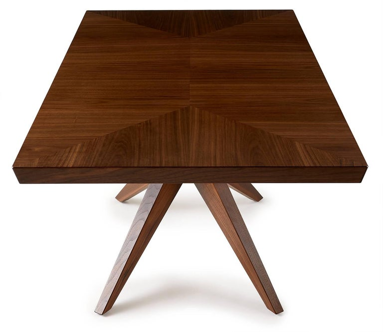 American Angela Adams Single Bonfire Dining Table Walnut Handcrafted Modern For