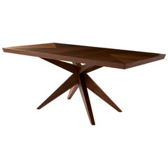Angela Adams Single Bonfire Dining Table, Walnut, Handcrafted, Modern