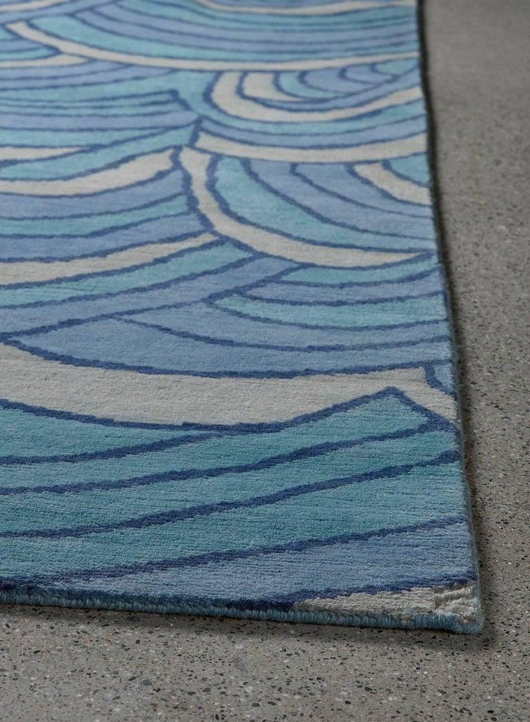 Angela Adams Surf Blue Area Rug 100 New Zealand Wool
