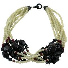 Angela Caputi Multi-Strand Resin Choker Necklace
