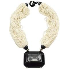 Angela Caputi Pearl Seeds Multi-Strand Choker Necklace