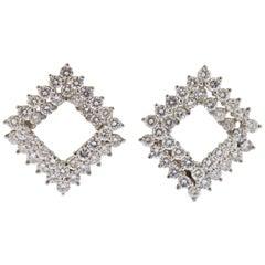 Angela Cummings Diamond Platinum Earrings