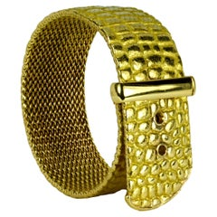 Angela Cummings for Tiffany 18K Yellow Gold 'Crocodile' Buckle Bracelet