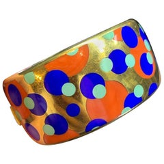 Angela Cummings for Tiffany & Co. Coral, Lapis Lazuli and Turquoise Bangle