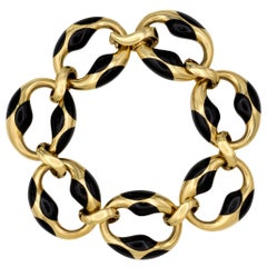 Angela Cummings for Tiffany & Co. Enamel and Gold Bracelet