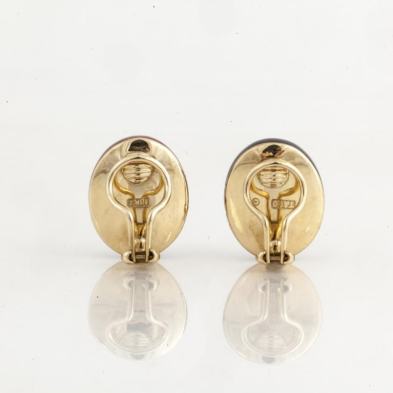 Angela Cummings for Tiffany & Co. Yellow Gold Earrings For Sale 1
