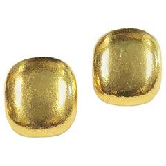 Angela Cummings for Tiffany & Co. Yellow Gold Hammered Earrings