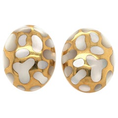 Angela Cummings Gold and Mother of Pearl Earrings