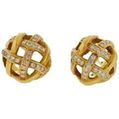 Angela Cummings Gold Diamond Earrings