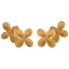 Angela Cummings Gold Flower Earrings