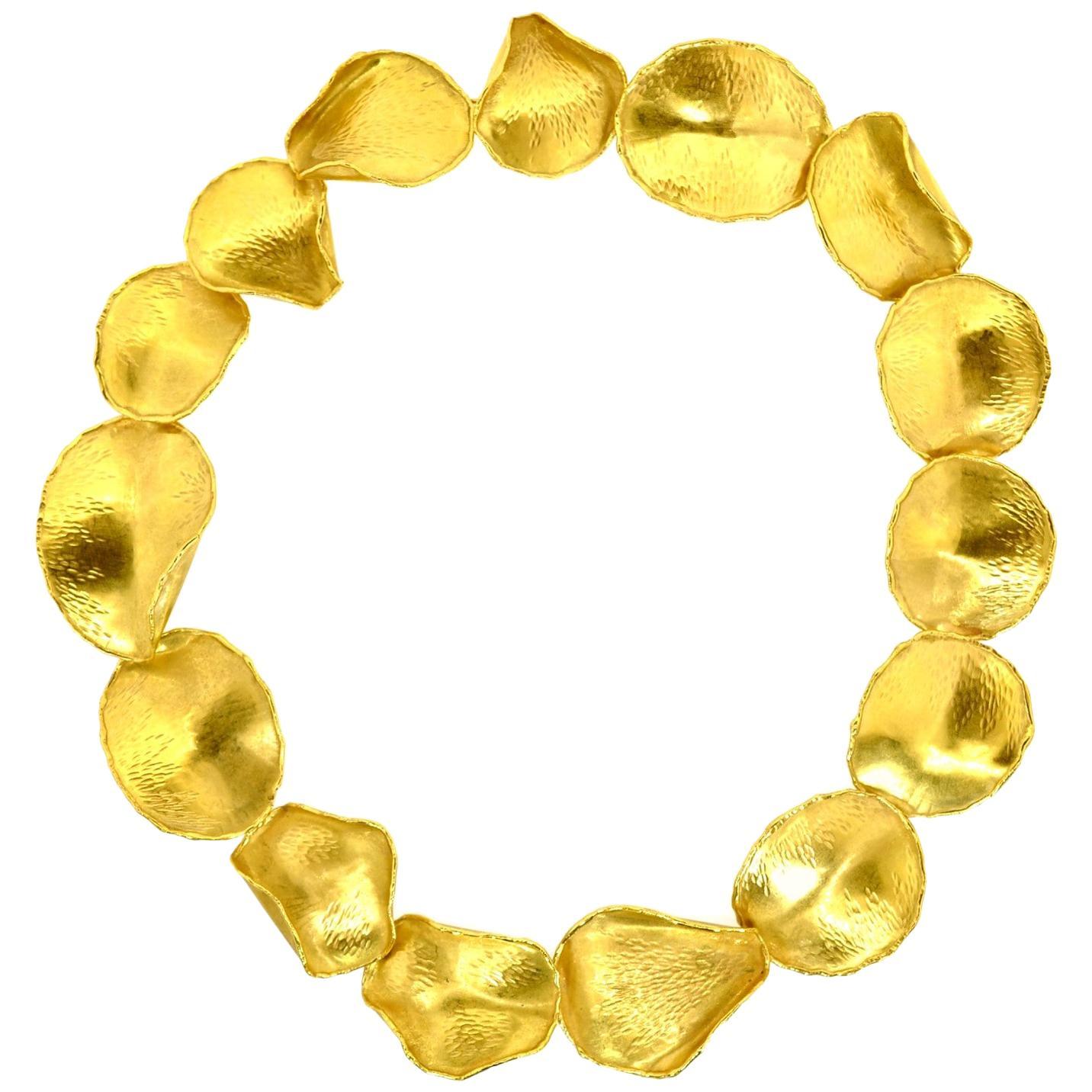 "Angela Cummings Gold ""Rose Petals"" Necklace"
