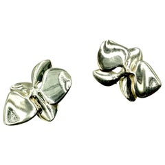 Angela Cummings Iconic 1984 Orchid Earrings in Sterling Silver