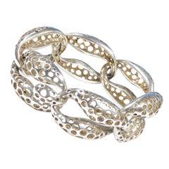 Angela Cummings Large Silver Biomorphic Modernist Bracelet