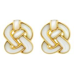Angela Cummings Mother of Pearl Knot Motif Earrings