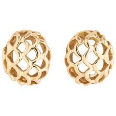 Angela Cummings Open Work Domed Gold Earring
