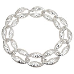Angela Cummings Sterling Silver Large Link Necklace