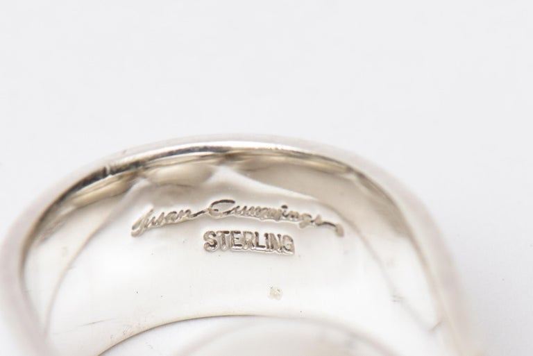 Angela Cummings Sterling Silver Sculptural Ball Ring Vintage For Sale 1