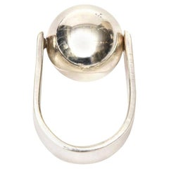 Angela Cummings Sterling Silver Sculptural Ball Ring Vintage