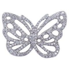 Angela Cummings & Tiffany & Co. Diamond Butterfly Brooch Pin