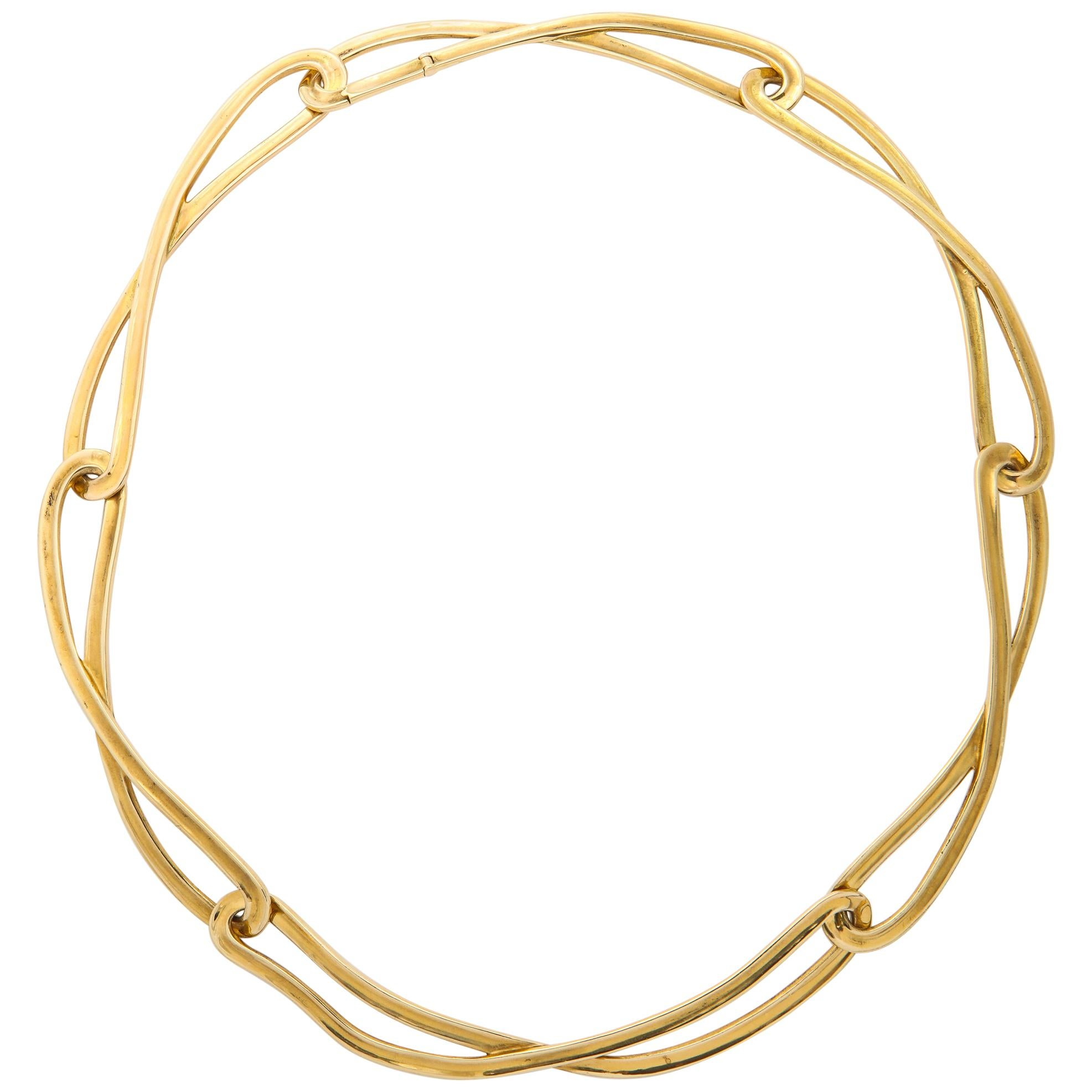 Angela Cummings Tiffany & Co. Gold Figure-8 Link Necklace