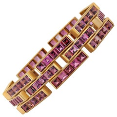 Angela Cummings Tiffany & Co. Vintage Rubellite and Gold Link Bracelet