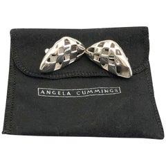 Angela Cummings Vintage Sterling Basket Weave Earrings